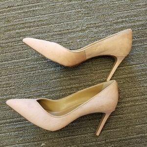 Banana republic pink cowhide heels